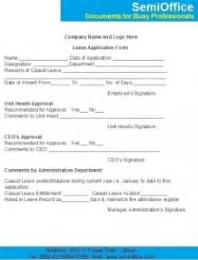 Leave application form format for office semioffice com