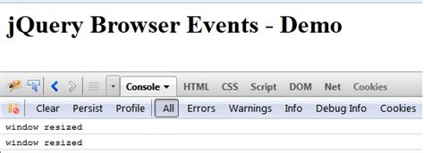 jquery layout event resize jquery event handling browser events