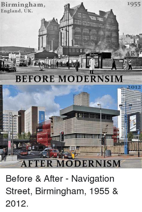 Modern Buildings 1955 Birmingham England Uk Ar Before Modernsim 012 After