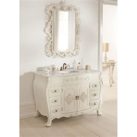 furniture white wooden shabby bathroom vanity with black