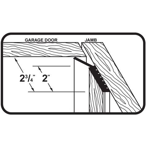 Md Garage Door Seal Dual Vinyl Garage Door Seal For Top Sides 7 M D Building Products Inc