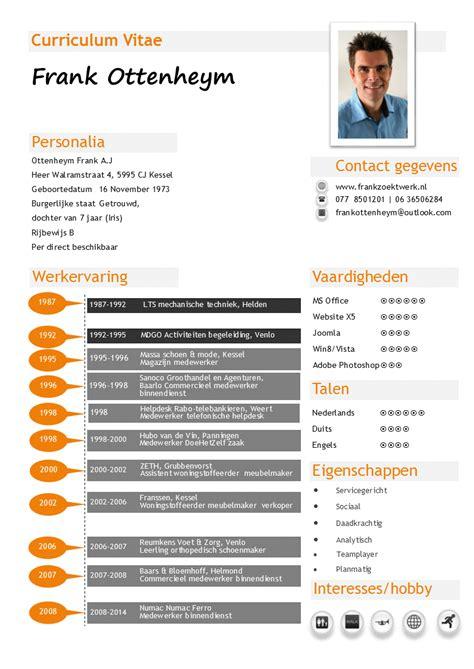 Sjabloon Europass Cv Mijn Cv Een Overzicht Werkervaring En Vaardigheden Voor Een Volledig Cv Zie Mijn Website