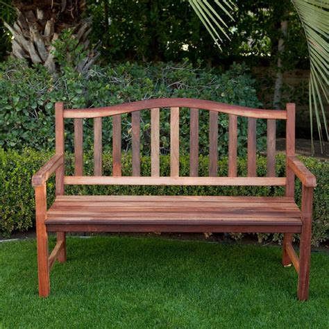 outdoor curved benches belham living richmond 4 foot outdoor wood bench with
