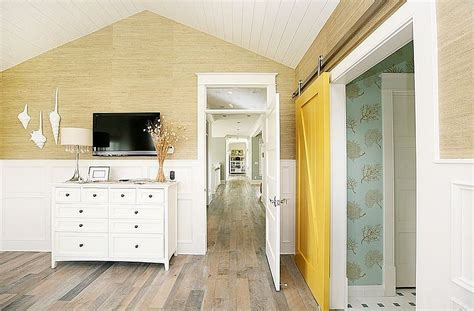 Yellow Barn Door 25 Bedrooms That Showcase The Rustic Charm Of Sliding Barn Doors2014 Interior Design 2014
