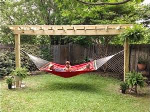 Pergola Hammock Stand Plans by Pergola Plans With Hammock Woodworking Vice Kit