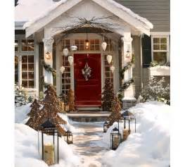 down to earth style rustic christmas porch