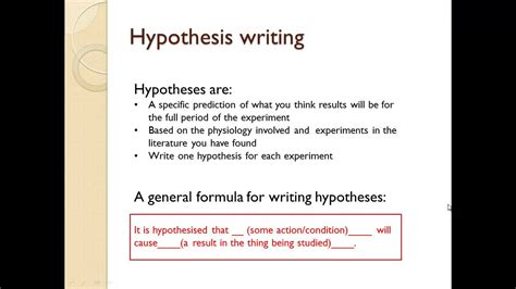 how to write a theory paper tep025 writing the aims and hypotheses of your laboratory