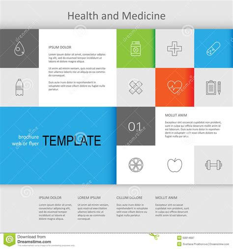 dna web page design template health and medicine web page design stock vector image