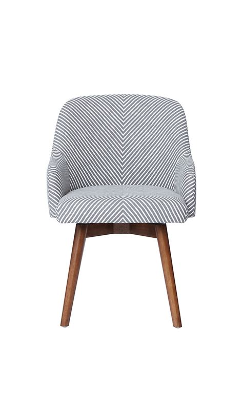 west elm saddle office chair painted stripe