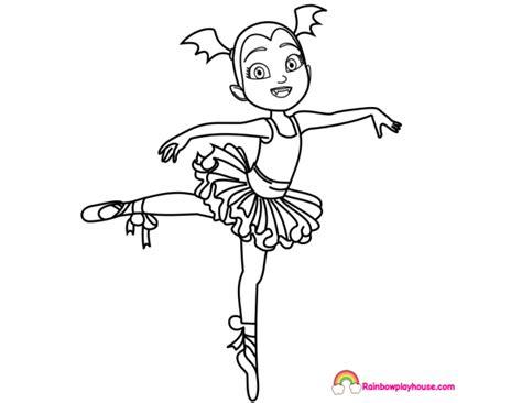 Vampirina Ballerina Coloring Page   Rainbow Playhouse