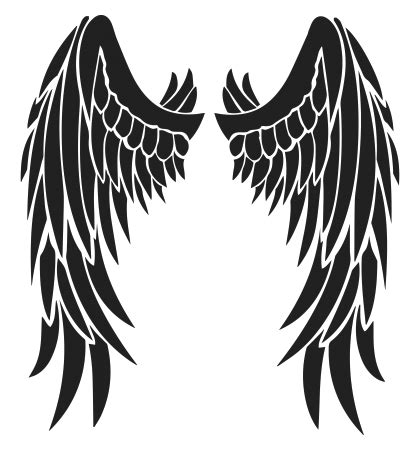 black and white angel wings tattoo designs wings design free black tribal