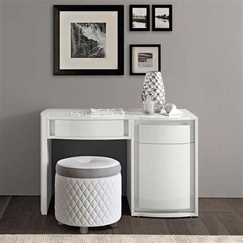 bianca white high gloss midi dressing table mirror stool