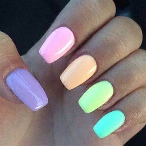 pastel color nails colorful pastel nails pictures photos and images for