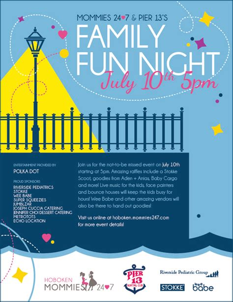 mommies 24 7 pier 13 s family fun night joseph cuccia
