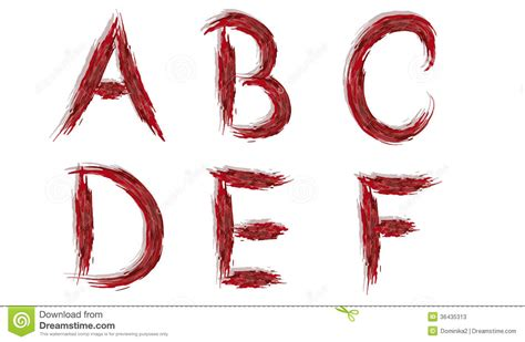 Letter With Blood Alphabet Bloody Letters Stock Photos Image 36435313