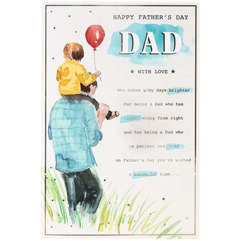 fathers day card watercolour cards bm