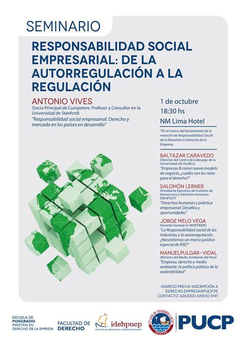 la responsabilidad social de la empresa oportunidades y seminario responsabilidad social empresarial de la