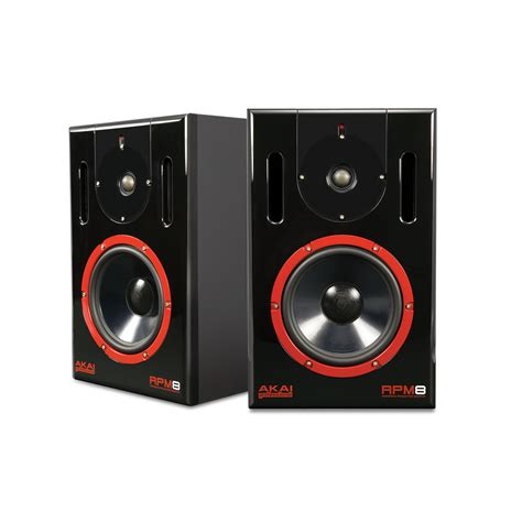 Speaker Monitor akai rpm8 active studio monitors studio monitor speakers from inta audio uk