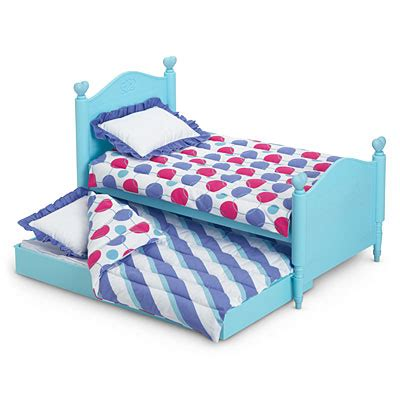 doll trundle bed new nib american girl furniture bitty baby twins trundle bed bedding for dolls girls trundle