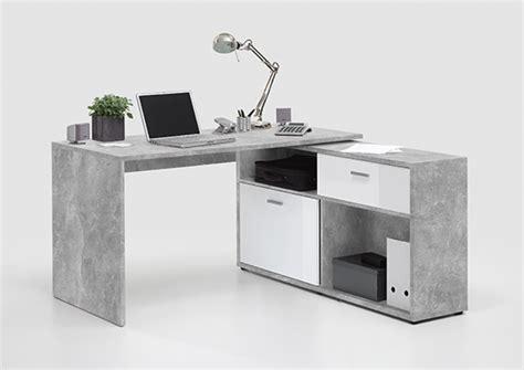 basika bureau bureau d angle diego 1 b 233 ton blanc brillant