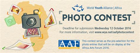 Photo Sweepstakes - world youth alliance africa arts forum 2016 photo contest 2016