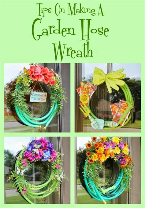 tips  making  garden hose wreath  images