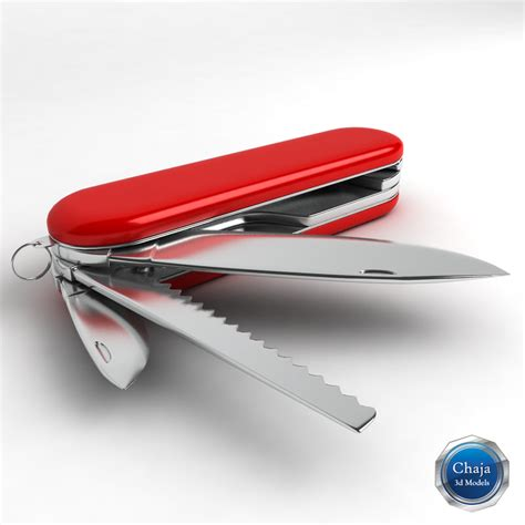 Swiss Army Model Baru 3d model swiss army knife