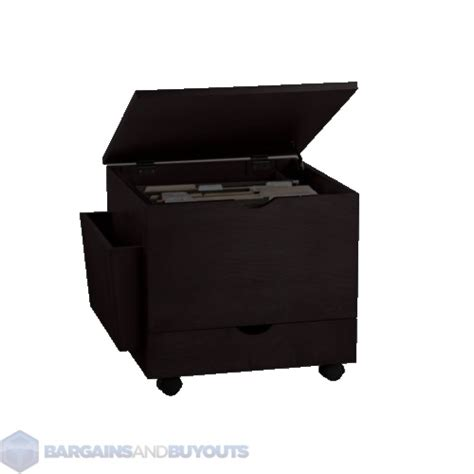 Ottoman Filing Cabinet Wooden File Cabinet Ottoman With Casters Black Finish 399354 Ebay