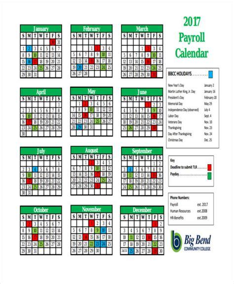 payroll calendar template 7 payroll calendar templates sle exle free