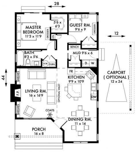 2 bedroom bungalow house floor plans awesome two bedroom house plans cabin cottage house plans