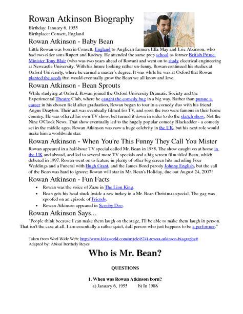 reading comprehension will smith biography worksheet rowan atkinson s biography