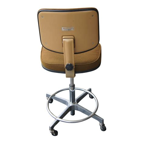 vintage cramer drafting stool vintage brown cramer adjustable swivel drafting stool ebay