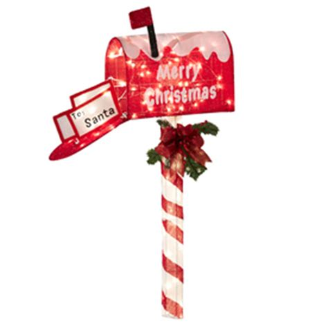 shop holiday living lighted animatronic mailbox outdoor