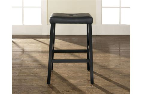 Upholstered Saddle Bar Stools by Upholstered Saddle Seat Bar Stool In Black With 29 Inch