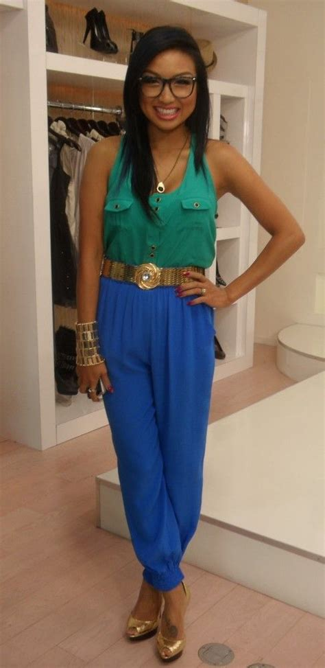 green top blue gold accessories jeannie mai