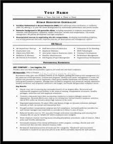 Sample Resume For Human Resources Manager human resources manager resume sainde org