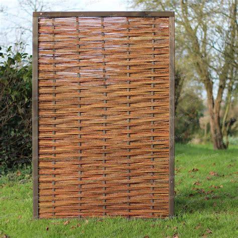Panneau Pin Fsc Et Osier 120x180cm Tressage Horizontal