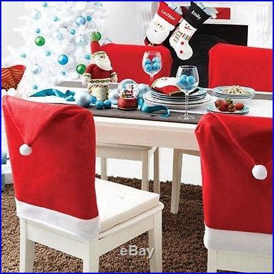 ways to decorate a santa hat cozy dinner decoration decor santa clause hat chair back cover new