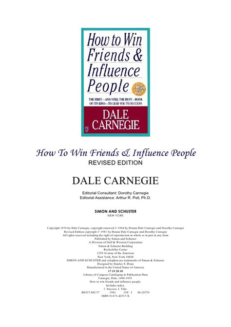 how to win friends and influence cover letter how to win friends influence dale carnegie