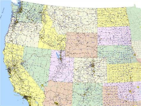 map of western united states map of western us map2