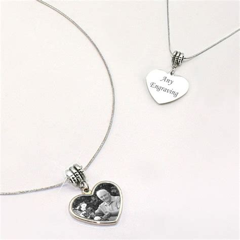 engraved photo memorial necklace someone remembered