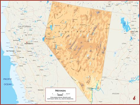 physical map of nevada physical geography of nevada pictures to pin on
