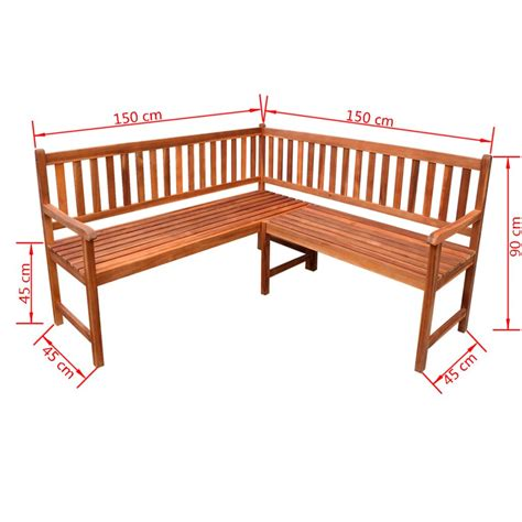 corner bench uk vidaxl garden corner bench acacia wood vidaxl co uk