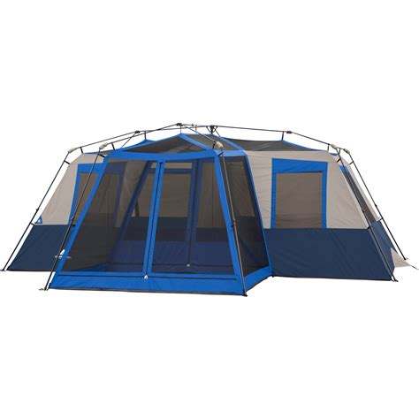 cabin tent with screen room ozark trail 12 person 2 room instant cabin tent with screen room ebay