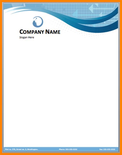 logo templates free word 9 letterhead design in word format free sle