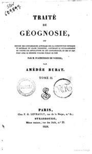 Traite De Geognosie Ou Expose Des Connaissances Actuelles