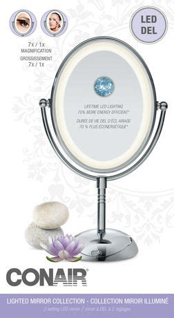 conair reflections led lighted collection mirror conair reflections led lighted collection mirror walmart