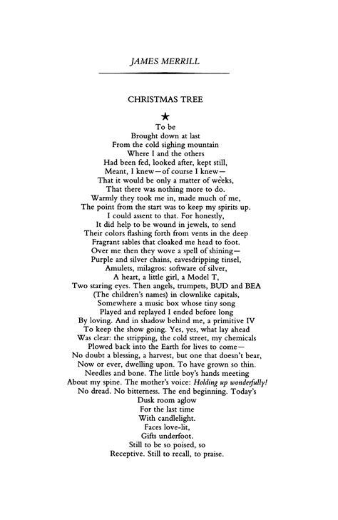 christmas tree poem tree by merrill poetry magazine