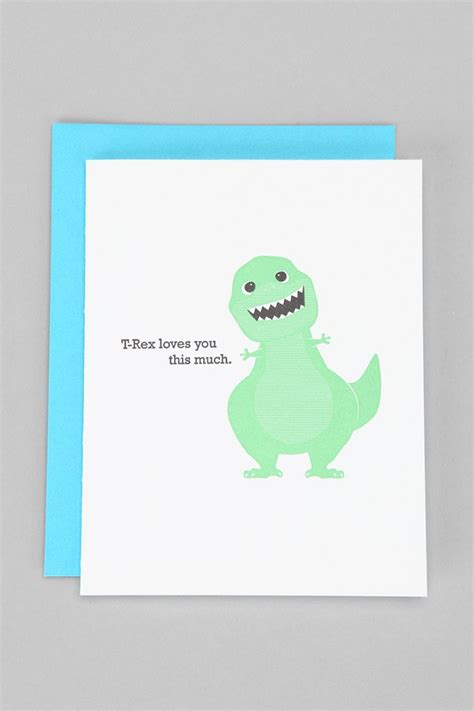 Gift Card Urban Outfitters - mcbittersons t rex loves you card urban outfitters