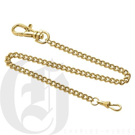 stainless steel gold plated pocket chain